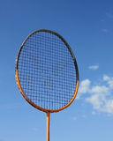 Racket for badminton on blue sky Stock Photo