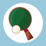 Racket and ball ping pong Stock Photos