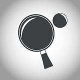 Racket and ball ping pong black and white Stock Image