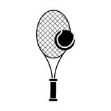 racket and ball of tennis design Stock Photo