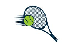 Racket and ball, Tennis Logo Designs Inspiration Isolated on White Background. vector illustration