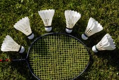 Racket and balls Royalty Free Stock Photo
