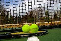 Racket and balls Stock Photography
