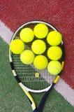Racket with balls Stock Image