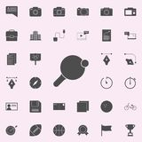Racket för bordtennissymbol universell uppsättning för rengöringsduksymboler för rengöringsduk och mobil royaltyfri illustrationer