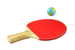 Racket and globe Royalty Free Stock Photo