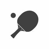 Racket icon for playing table tennis or ping-pong. Racket icon for playing table tennis or ping-pong  isolated on white background Stock Image