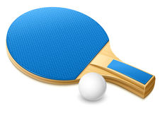 Racket for playing table tennis game. Racket and white ball for playing table tennis game -  illustration Royalty Free Stock Images