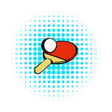 Racket for playing table tennis icon, comics style Stock Photo