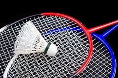 A racket and shuttlecock Royalty Free Stock Images