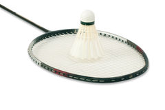 Racket and shuttlecock Stock Image