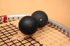 Racket squash. Athletics background ball dot frame indoor play racket round sports Stock Photo