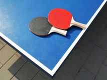 Racket With Table Tennis Royalty Free Stock Photo