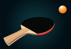 Racket for table tennis Royalty Free Stock Photos