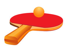 Racket for table tennis Stock Photography