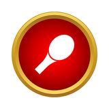 Racket for table tennis icon, simple style. Racket for table tennis icon in simple style in red circle. Sport symbol Royalty Free Stock Photography
