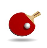 Racket for table tennis. Royalty Free Stock Photography