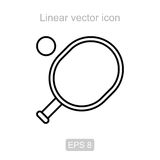 Racket for table tennis. Linear vector icon. Royalty Free Stock Photos
