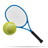 Racket and tennis ball. Illustration of the tennis racket and ball vector illustration