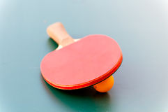 Racket for tennis and ball Stock Image