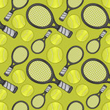 Racket & tennis ball pattern - Sport Stock Photography