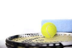 Racket and tennis ball Stock Photo