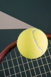 Racket and tennis balls Stock Photos
