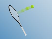 Racket and tennis Stock Photography