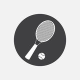 Racket tennis icon Royalty Free Stock Photography
