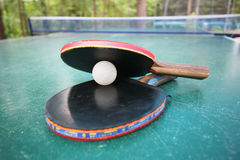 Rackets and ball Royalty Free Stock Photography