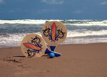 RACKETS OF BEACH Royalty Free Stock Photo