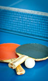 Rackets For Ping-pong And Ball Royalty Free Stock Images