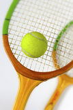 Rackets for tennis and ball Stock Photos