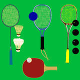 racketsportvektor royaltyfri illustrationer