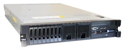 Rackmount изолированный сервер стоковое изображение rf