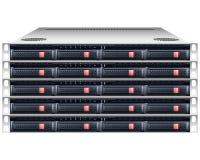 Rackmount chassi för server stock illustrationer
