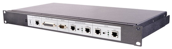 Rackmount control station isolated. Rackmount LAN control station isolated on the white Stock Photos