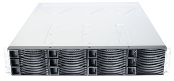 Rackmount disk storage. Rack mount disk storage system isolated on the white background Royalty Free Stock Images