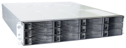 Rackmount disk storage isolated Stock Photo