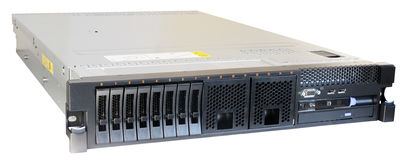 Rackmount server isolated. Rack mount server isometric view isolated on the white Royalty Free Stock Image