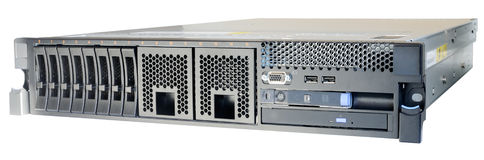 Rackmount server isolated. Rack mount server isolated on the white Stock Image