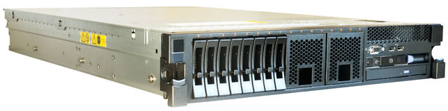 Rackmount server over white. Rack mount server isolated on the white Royalty Free Stock Photography