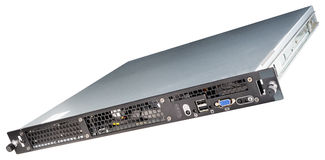 Rackmount serwer odizolowywający Zdjęcie Stock