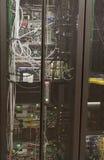 Rackmounted switches stock image