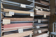 Racks of construction plywood Royalty Free Stock Images