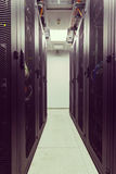 Racks in the data center Royalty Free Stock Photo