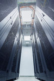 Racks in the data center Royalty Free Stock Photography