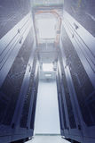 Racks in the data center Stock Photos