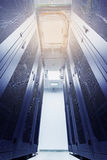Racks in the data center Royalty Free Stock Images