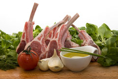 Racks of lamb Stock Photography